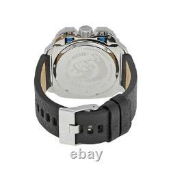 Diesel Bamf Black Leather Dz7345 Mens Chronograph Watch