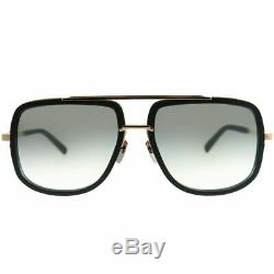 Dita Mach-One DRX-2030 L-BLK-RGD Black Rose Gold Sunglasses Grey Gradient AR
