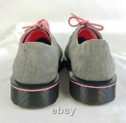 Doc Dr Marten Men's US Size 9 Gray Black & Pink Suede Shoes Very Nice Condition