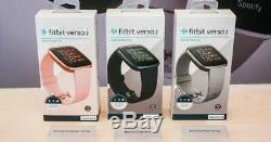 Fitbit Versa 2 Smartwatch Activity Tracker Copper Rose Pink Black Grey Silver