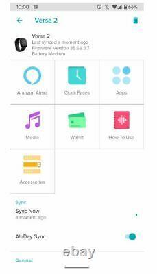 Fitbit Versa 2 Smartwatch Activity Tracker Gold Pink Black Silver NO BOX