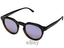 GIORGIO ARMANI AR8093 55964K Black Brown Grey Mirror Lilac 47mm Men's Sunglasses