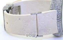 GUCCI 114-4 Stainless steel 4.82CT diamond case digital watch
