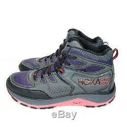 Hoka One One Womens US Size 10 Tor Tech Mid Wp Boots Grey / Black / Pink-Red NEW