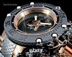 Invicta 50mm SUBAQUA NOMA VII SHUTTER Gray & Rose Gold MOP Dial Bracelet Watch