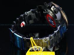 Invicta 52mm LE Marvel AVENGERS Captain America Bolt Viper Chrono Black IP Watch