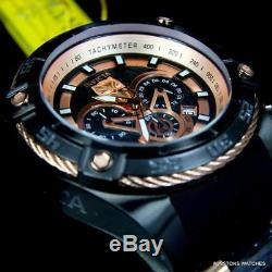 Invicta Marvel Black Panther Bolt Viper 52mm Chronograph Rose Gold Tne Watch New