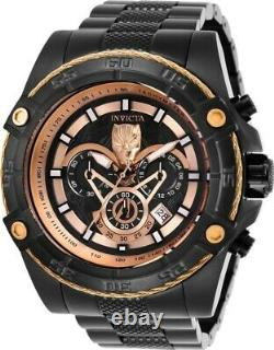 Invicta Marvel Ltd Ed Black Panther Men's 52mm Black/Grey/Rose Gold Watch 26807