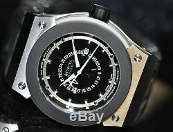 Invicta Mens Rare Akula Russian Diver Swiss GMT Black Dial Grey Poly Watch F0016
