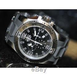 Invicta Rare Men's Excursion Chronograph Black Dial Grey Poly Watch 11914