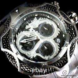 Invicta Reserve Venom III Dragon Scale Steel Swiss Mvt Black 52mm Watch New