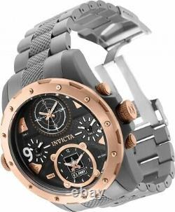 Invicta US Army Men 50mm Coalition Forces 4- Quad Time Titanium Bracelet Watch