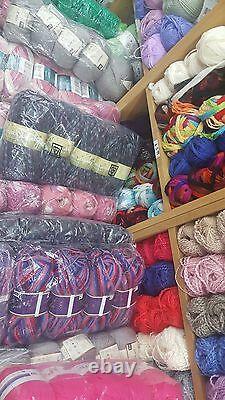 JOB LOT WOOL new ASSORTED COLOURS hand knitting wool YARN MEGGA DEAL500 BALL