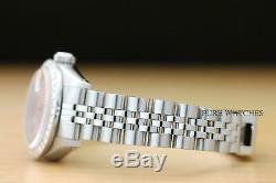 Ladies Rolex Datejust Pink Diamond Dial 18k White Gold & Stainless Steel Watch