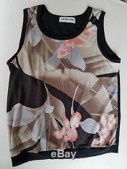 Leonard Paris Knit Twin Set, Size 42 EUC! Black/PINK/GREY