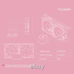 Liquid CPU Cooler Pink 240mm RGB Addressable All-In-One Water Cooling Radiator