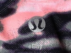 Lululemon WUNDER Under CROP WAMO CAMO Black BARELY PINK Gray (Size 06) # 2 NWT