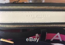 Marc Jacobs Snapshot Camera Bag Cloud Black Grey Pink Crossbody AUTHENTIC Logo