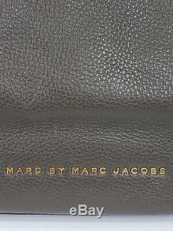 Marc by MARC JACOBS Pebbled Soft Leather Gray / Black Tote Purse Pink Straps