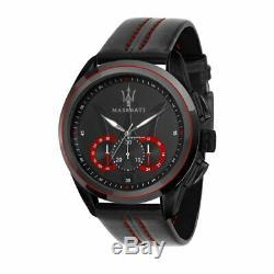 Maserati Traguardo R8871612023 Grey Case, Black Dial, Black Strap Chrono Watch