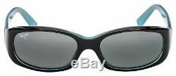 Maui Jim Punchbowl Sunglasses 219-03 Black with Blue Neutral Grey Polarized