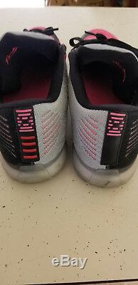 Men's New Nike Kobe X 10 Elite Low Black Wolf Grey Pink Flash 747212-010 Sz 10.5
