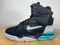 Men's Nike Air Command Force Spurs Black Grey Blue Pink Size 9.5 684715 001