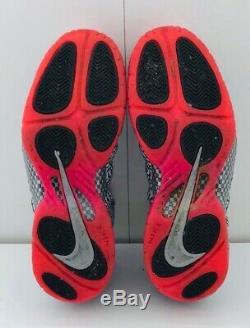 Men's Nike Air Foamposite PRM Pink Elephant Print Grey Black Size 12 616750-002