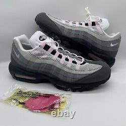 Men's Nike Air Max 95 Gunsmoke Pink Foam Grey Black Running CJ0588-001 Size 14