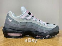 Men's Nike Air Max 95 Gunsmoke Pink Foam Grey Black Running Shoes 10 CJ0588-001