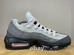 Men's Nike Air Max 95 Gunsmoke Pink Foam Grey Black Running Shoes 9 CJ0588-001