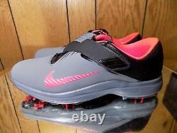 Men's Nike TW 17 Tiger Woods Golf Shoes Gray/Pink/Black Sz 12 880955-003