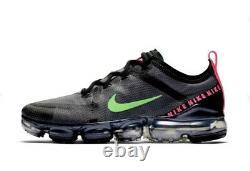Mens Nike Air Vapormax Trainers Uk Size 10 EUR 43 Black/Grey/Neon Green/Pink