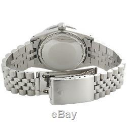 Mens Rolex 36mm DateJust Diamond Watch Jubilee Steel Band Custom Red Dial 2 CT