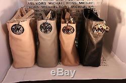 Michael Kors Fulton Medium Slouchy Shoulder Bag Black, Dk Dune, Ballet, Grey, Cherry
