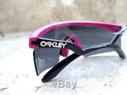 NEW! 2005 Gen II OAKLEY RAZOR BLADES Pink & Black frame w Gray lens very rare