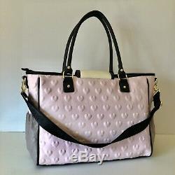 NEW BETSEY JOHNSON Baby Bag Pink/Gray/Black Diaper Changing Tote Set MSR$158