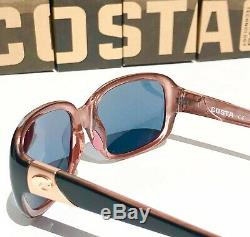 NEW COSTA GANNET Black Hibiscus POLARIZED 580P GRAY Womens Sunglass GNT 132