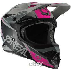 NEW Oneal MX 2020 3 Series Stardust Black/Grey/Pink Motocross Dirt Bike Helmet