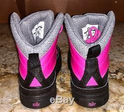 NIKE Woodside 2 High Pre School Boots Pink Black Grey NEW Little Girls Sz 1