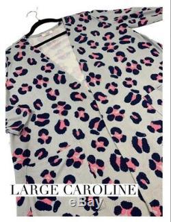 NWT LuLaRoe Caroline Cardigan L Large Pink LEOPARD Black Gray Grey Unicorn