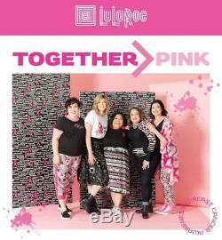 NWT LuLaRoe XL AMBER TIE DYE GRAY BLK PINK RIBBON HOODIE BREAST CANCER AWARENESS
