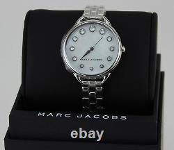 New Authentic Marc Jacobs Betty Crystals Silver Women's Ladies Mj3508 Watch