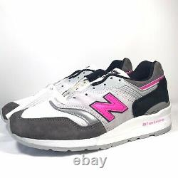 New Balance 997 Sneakers Made in the USA Grey Pink Black M997LBK Sz 6 WMNS 7.5