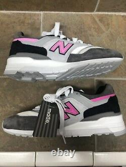 New Balance MADE IN USA Grey/Pink/Black M997LBK Men's 7.5 Women's 9
