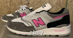 New Balance Made in USA Grey/Pink/Black M997LBK Men's Sz. 13
