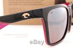 New Costa Del Mar Sunglasses PANGA Shiny Black/Crystal/Fuchsia/Gray 580P