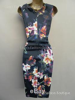 New KAREN MILLEN Orchid BNWT £160 Floral Print Evening Pencil Party Dress SALE