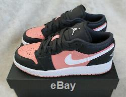 New Nike Air Jordan 1 Low AJ1 Quartz Pink Black Grey UK 6 US 7 EUR 40