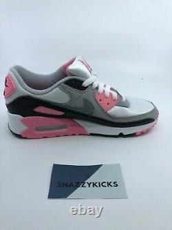 New Nike Air Max 90 Grey Rose Pink Black CD0490-102 Women's 6 / 6.5 / 7.5 / 8